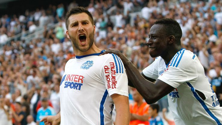 Andre-Pierre Gignac has helped fire Marseille past reigning French champions PSG in the Ligue 1 table.