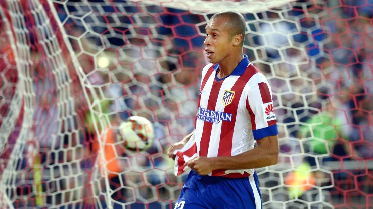 It was a mixed night for Joao Miranda, who scored but was also whistled for a penalty in Atletico's 2-2 draw.