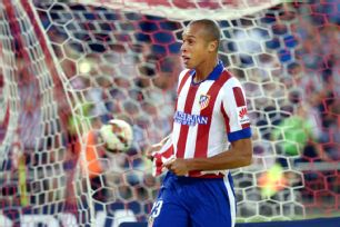 It was a mixed night for Joao Miranda who scored but was also whistled for a penalty in Atletico's 2-2 draw.