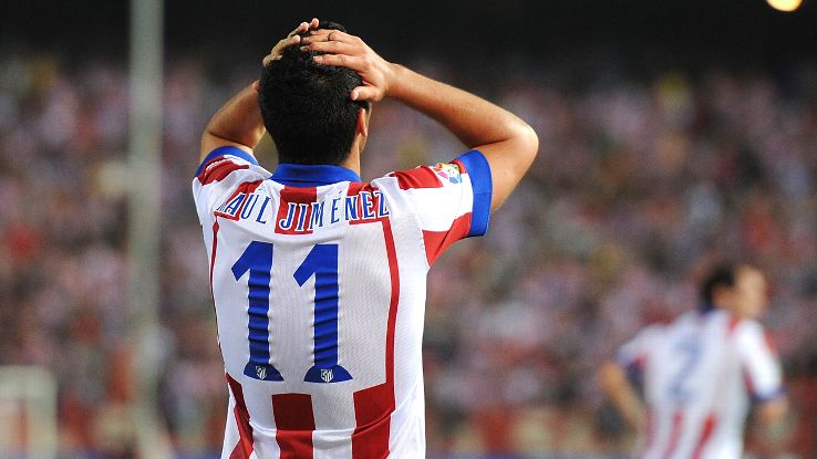 Mexican forward Raul Jimenez continues to draw the ire of the Atletico faithful.
