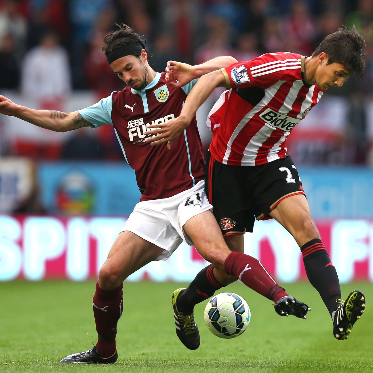 It was tough going all match long for Santiago Vergini and Sunderland, who could only muster a point at Turf Moor.