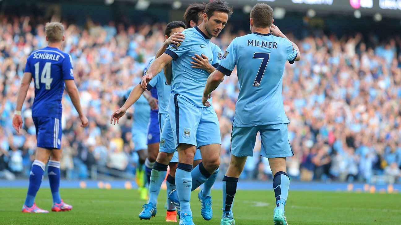 Manchester City Fc And Chelsea: Frank Lampard Scores Against Chelsea To