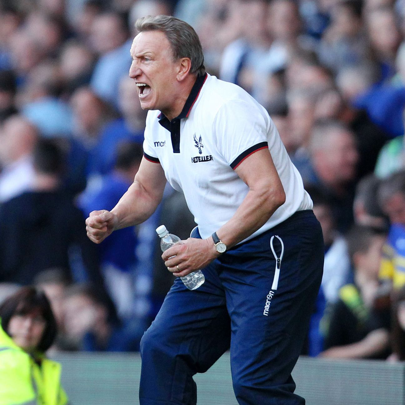 Crystal Palace manager Neil Warnock was fired up by his team's massive 3-2 victory at Goodison Park.