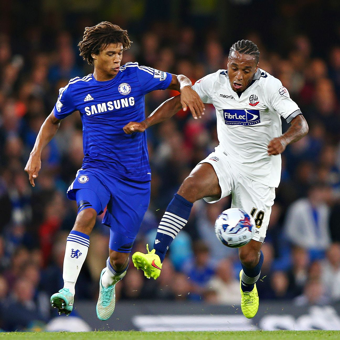 Nathan Ake, left, impressed with his play in the Chelsea midfield.
