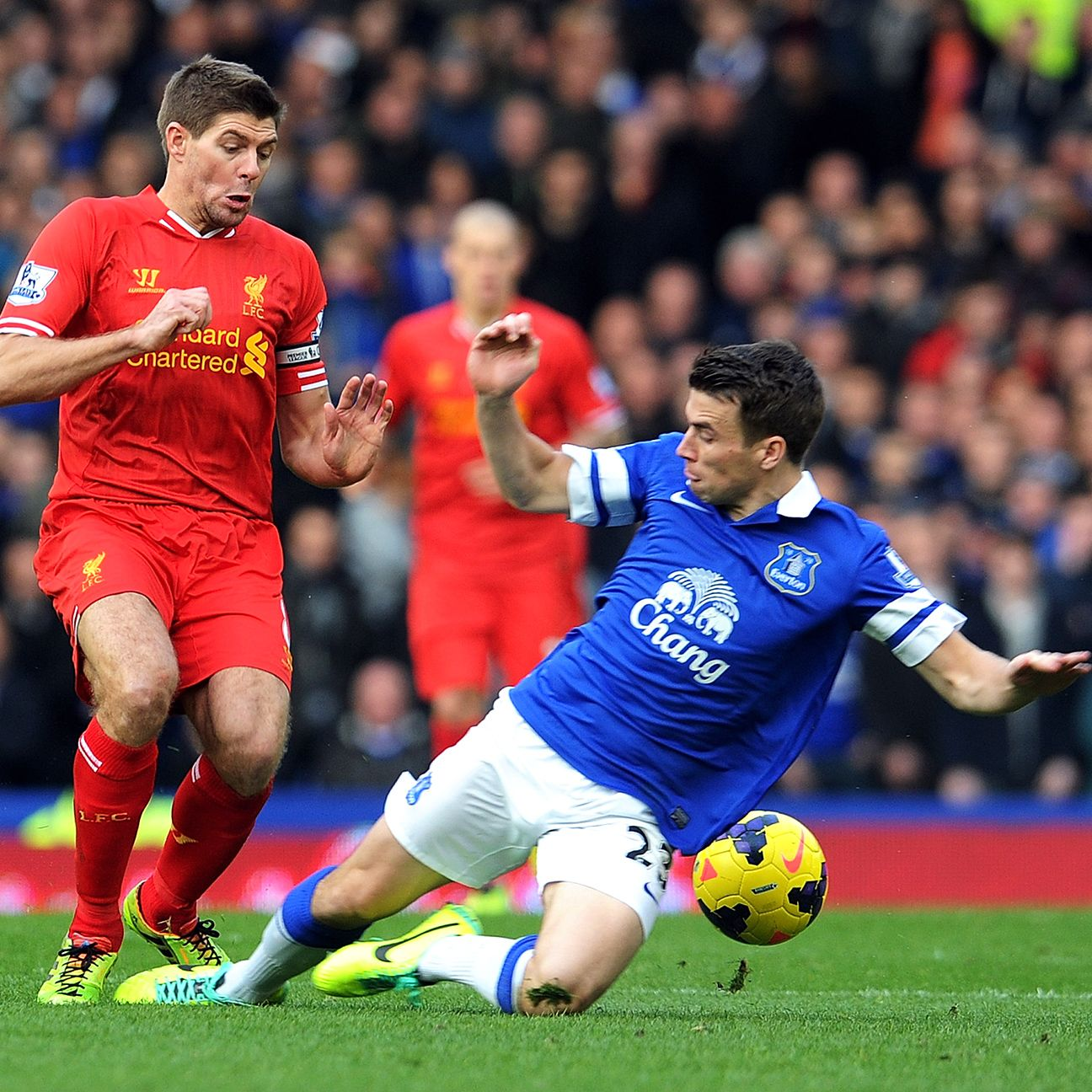 Things are always turn feisty when Steven Gerrard's Liverpool and Seamus Coleman's Everton do battle.