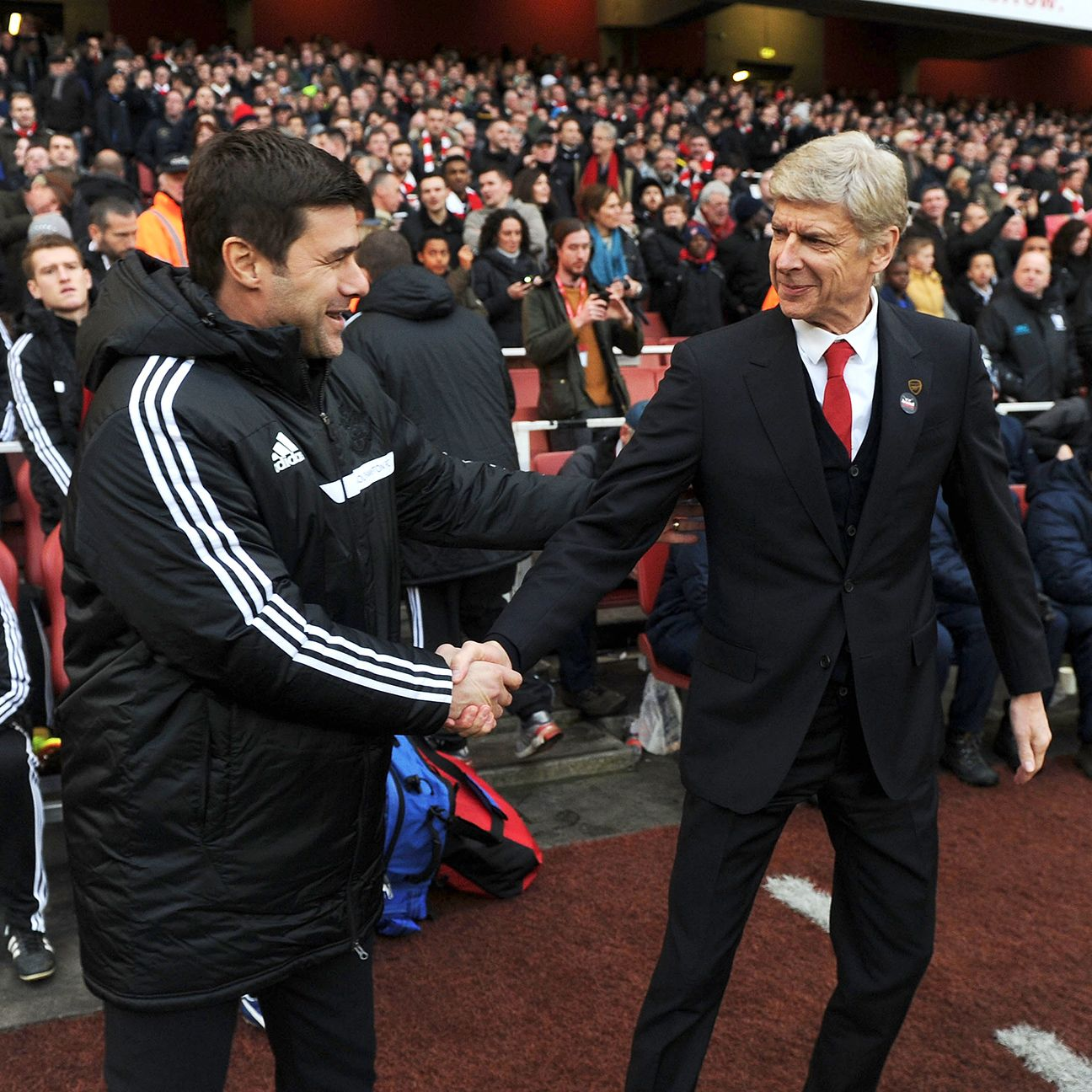 Mauricio Pochettino, left, is the latest Tottenham manager seeking to regain a hold in the North London derby over rivals Arsene Wenger and Arsenal.