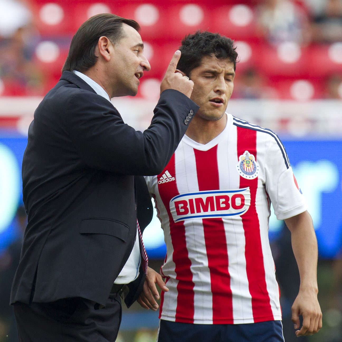 Carlos Bustos' message just doesn't seem to be getting through to Angel Reyna and the rest of the Chivas players.