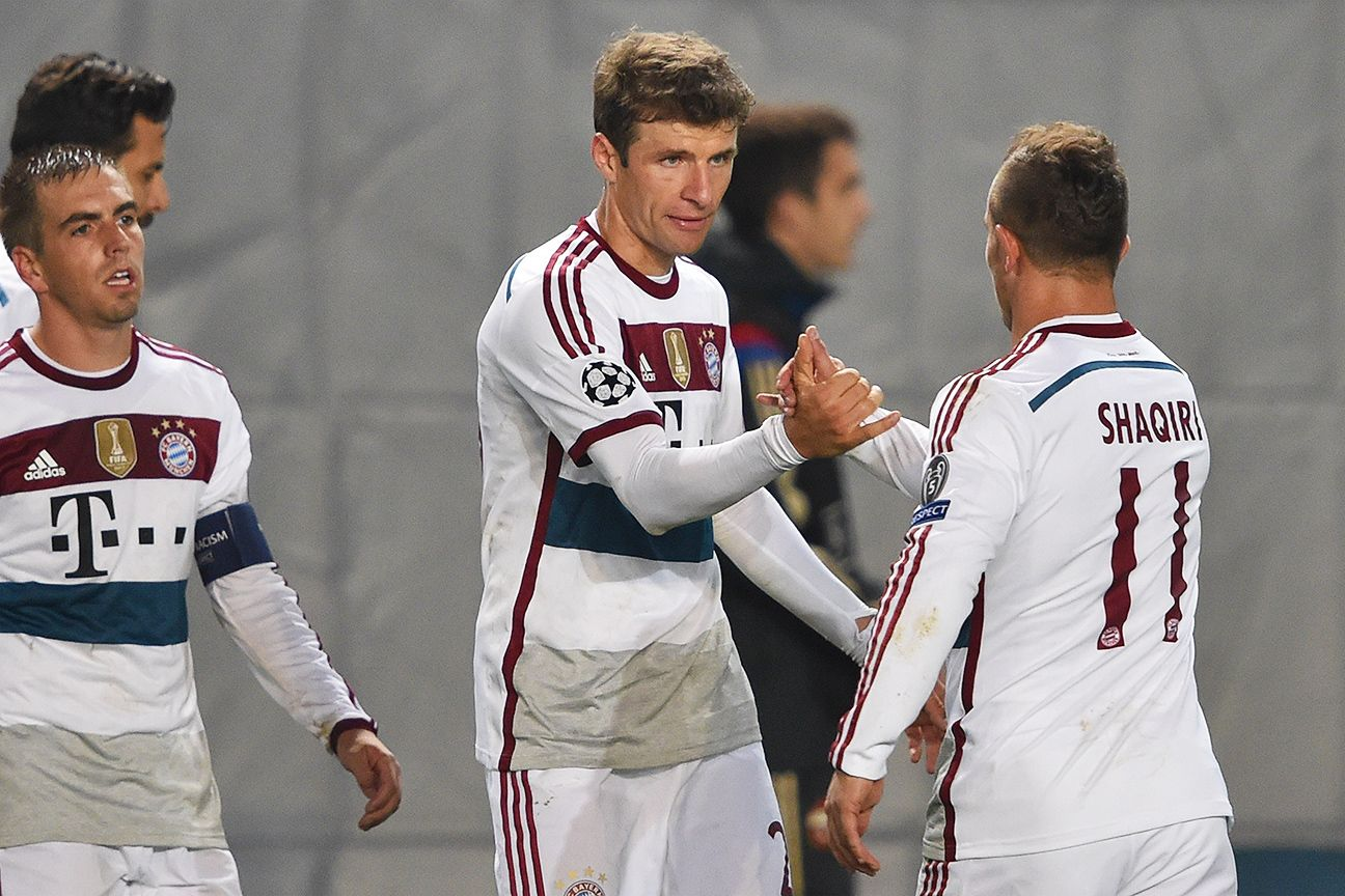 Thomas Muller's penalty conversion helped Bayern avoid any surprises at CSKA Moscow.