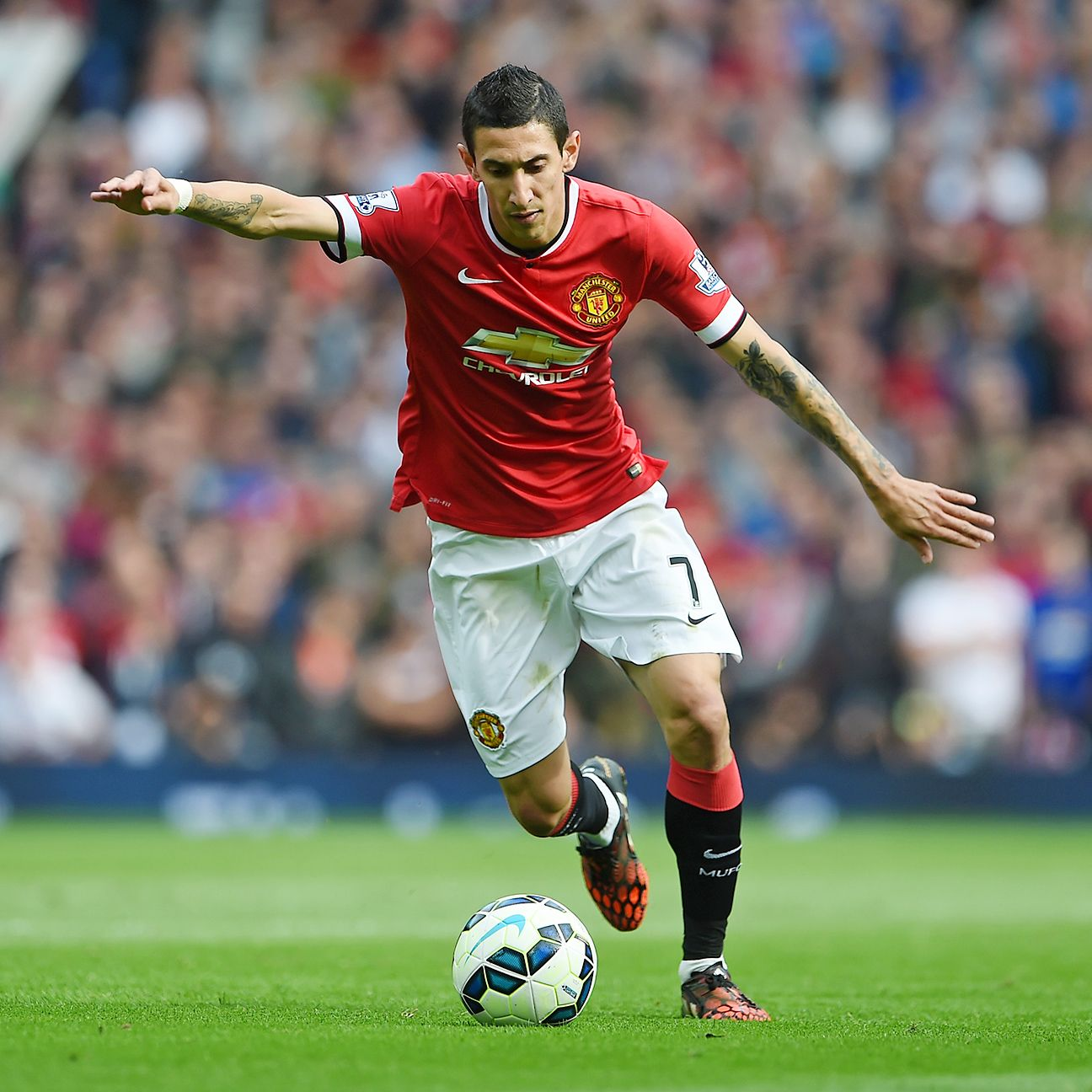 Manchester United's Angel di Maria has three goals in his last four matches.