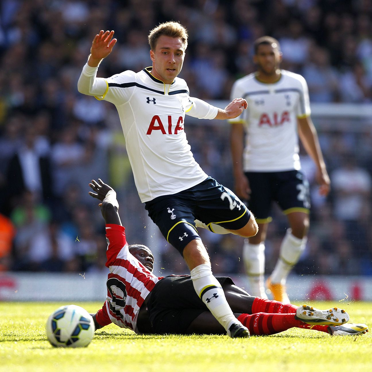 Christian Eriksen's goal helped give Spurs their first Premier League win since August.