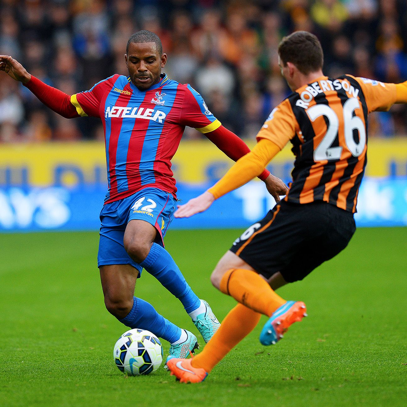 On Saturday Crystal Palace forward Jason Puncheon was the latest opponent to be thwarted by rising star defender Andy Robertson of Hull City.