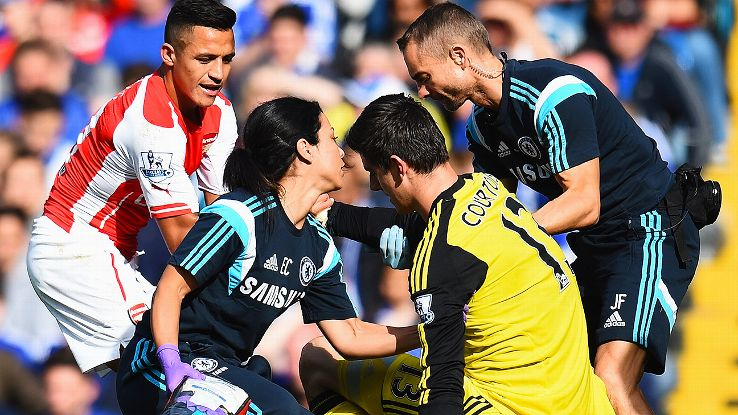 Thibaut Courtois suffered a concussion in 2014.
