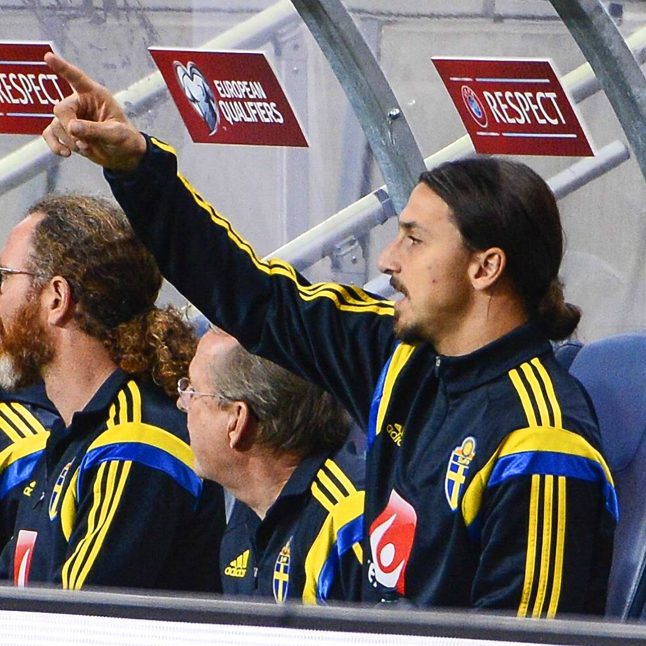 Zlatan Ibrahimovic was reduced to spectator status in Sweden's 1-1 draw versus Russia.