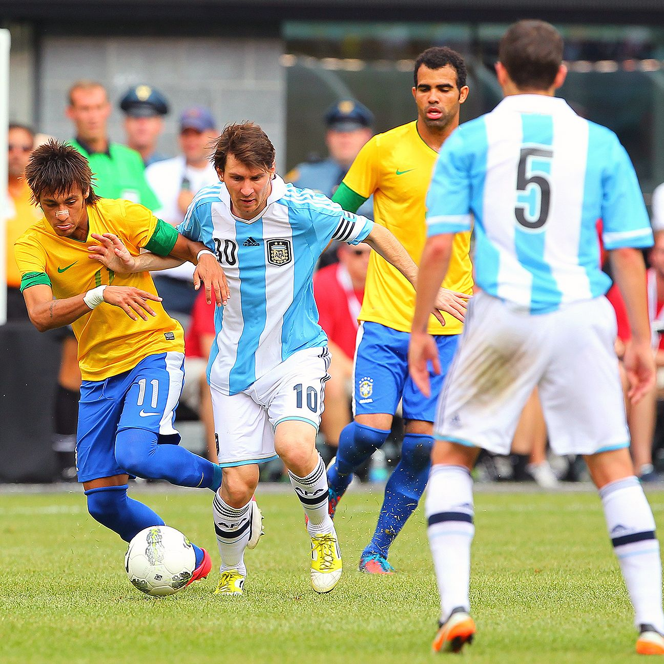 Lionel Messi and Argentina downed Neymar's Brazil in a 4-3 thriller played in June 2012 in the United States.