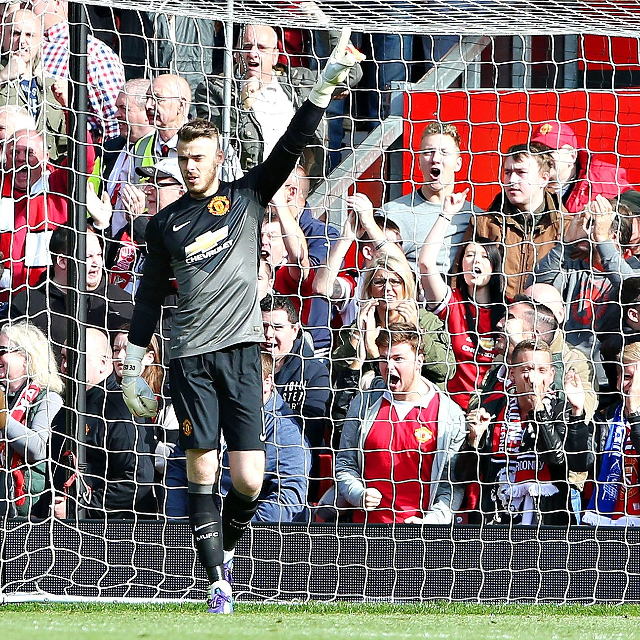 De Gea made the Old Trafford faithful roar his name after saving Leighton Baines' penalty kick last week.