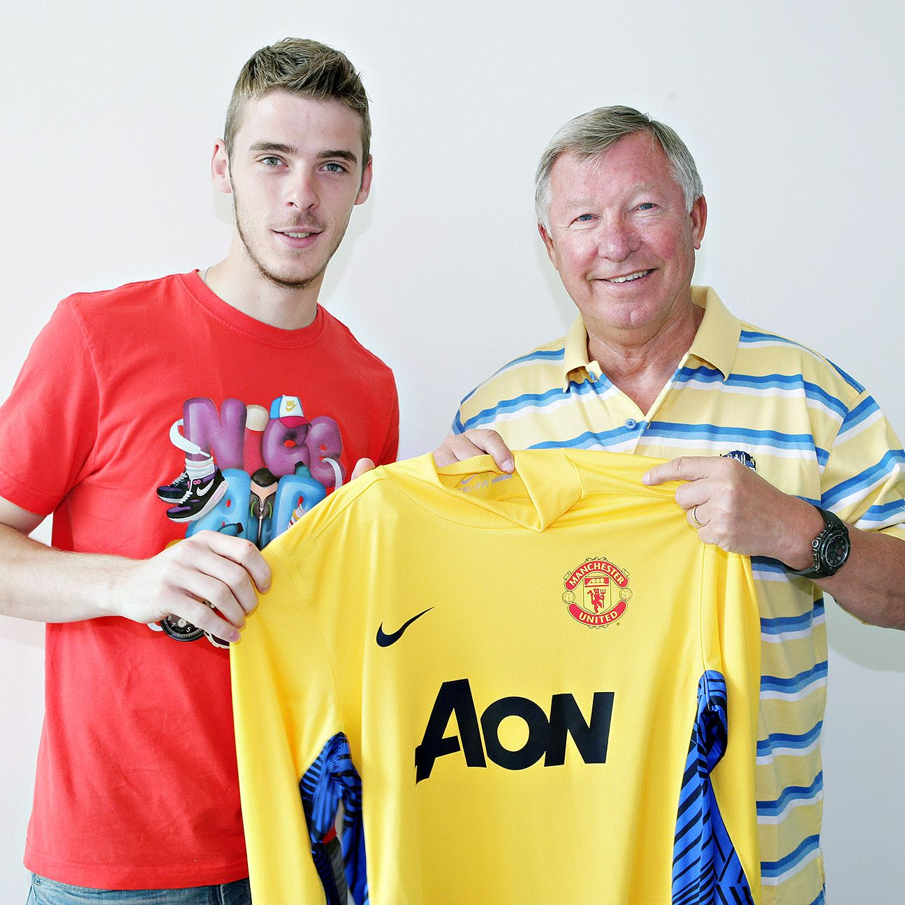 David De Gea was just a fresh-faced 20-year-old when he was signed by Sir Alex Ferguson in 2011.