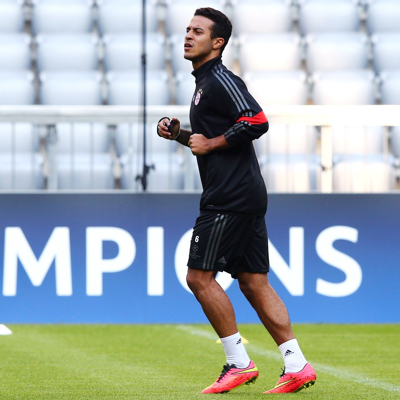 Thiago has featured in just 25 matches for Bayern since joining the German side in July 2013.