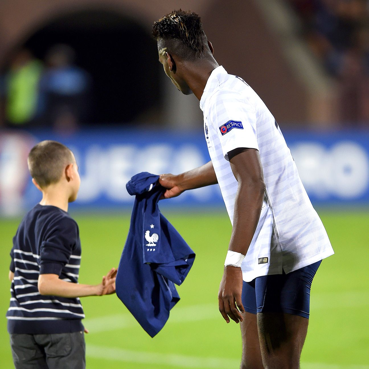 Paul Pogba's offer of game-worn shorts wasn't a big hit.