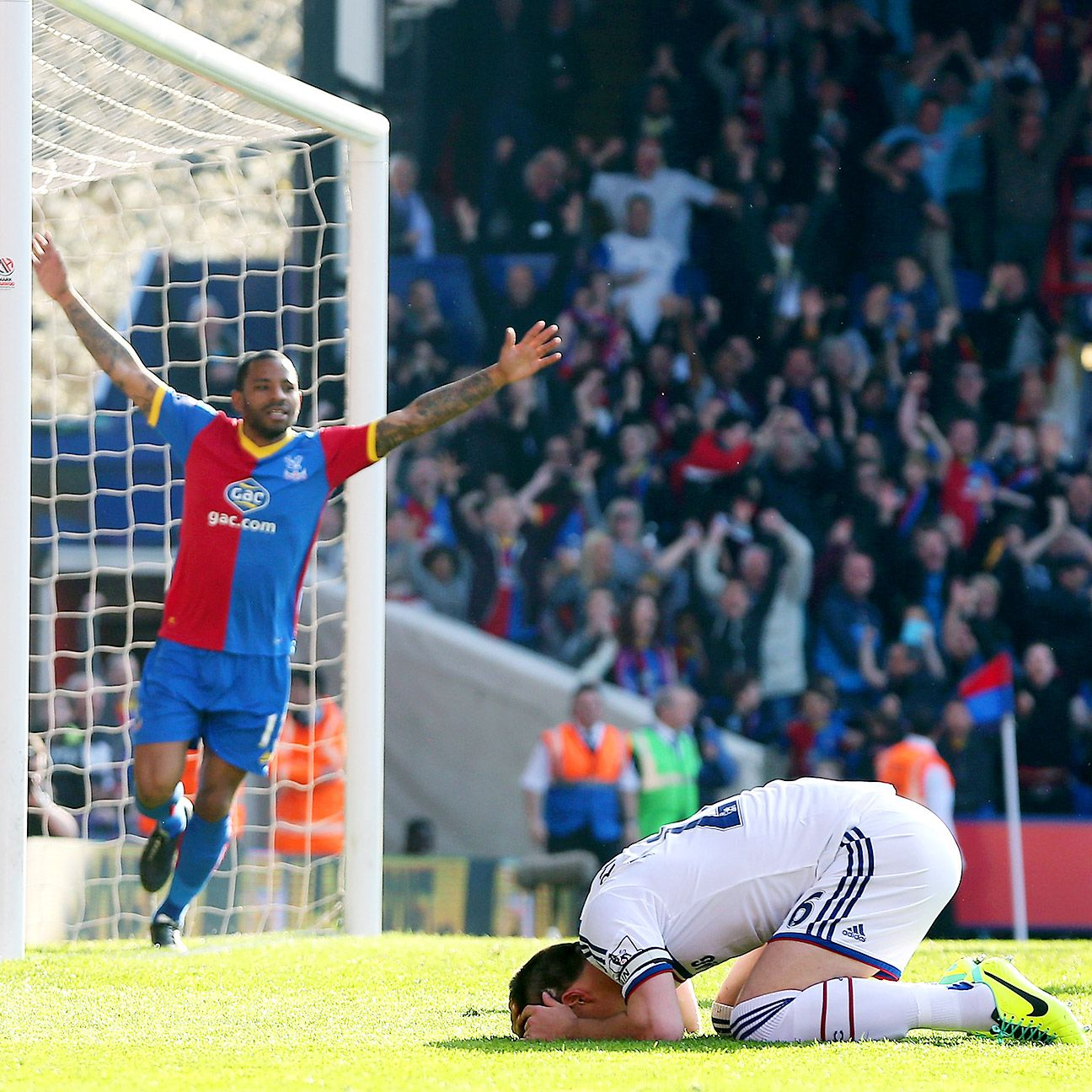 Chelsea's title hopes last season took a hit when John Terry's own goal proved decisive in the Blues' defeat at Crystal Palace.