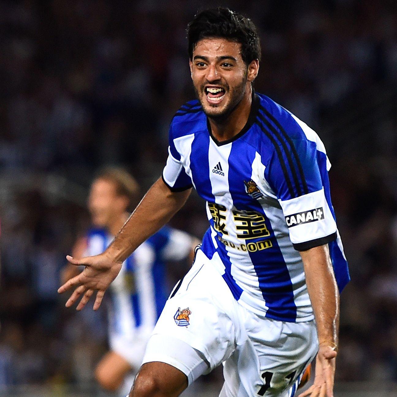 Injuries have limited Carlos Vela's 2014-15 season thus far at Real Sociedad.