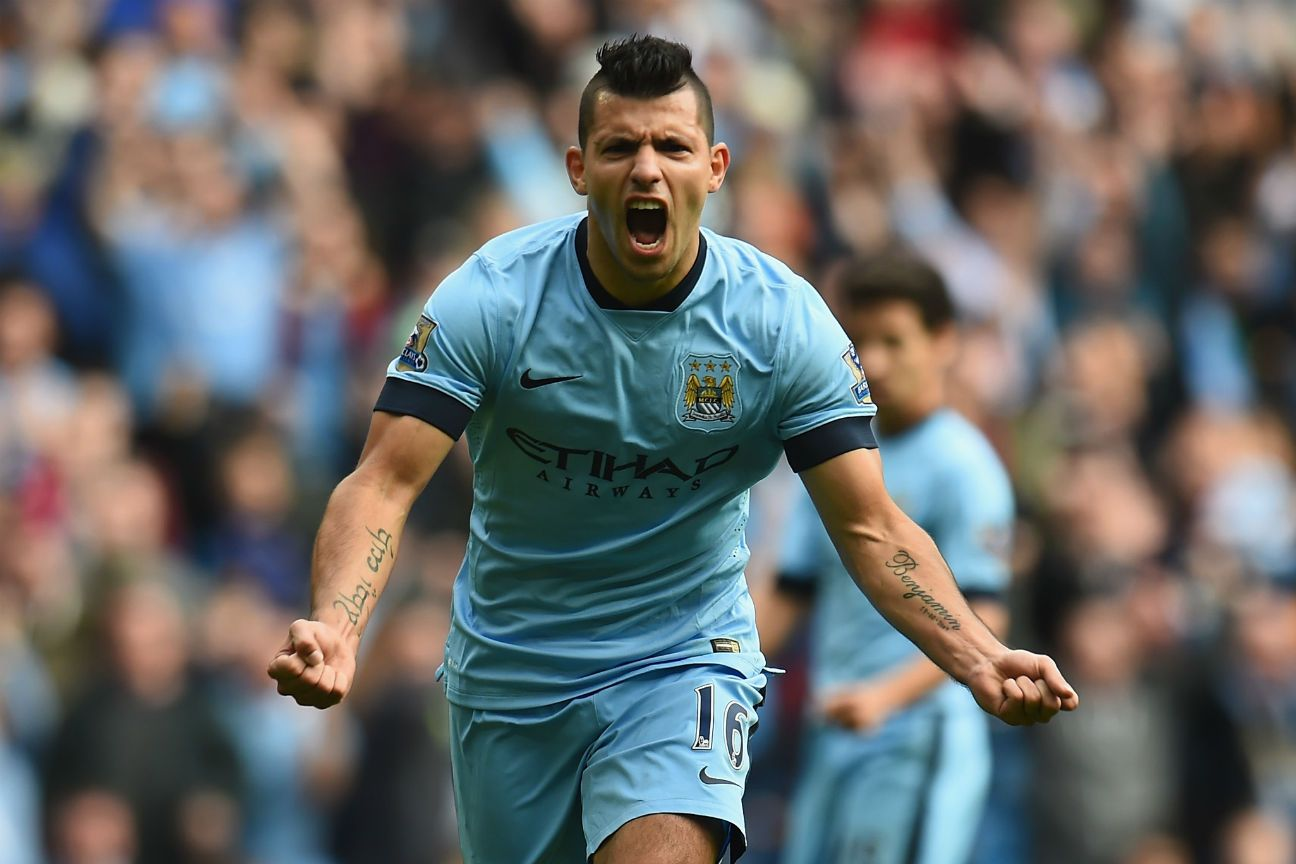 Manchester City striker Sergio Aguero has nine goals in eight Premier League games this season.
