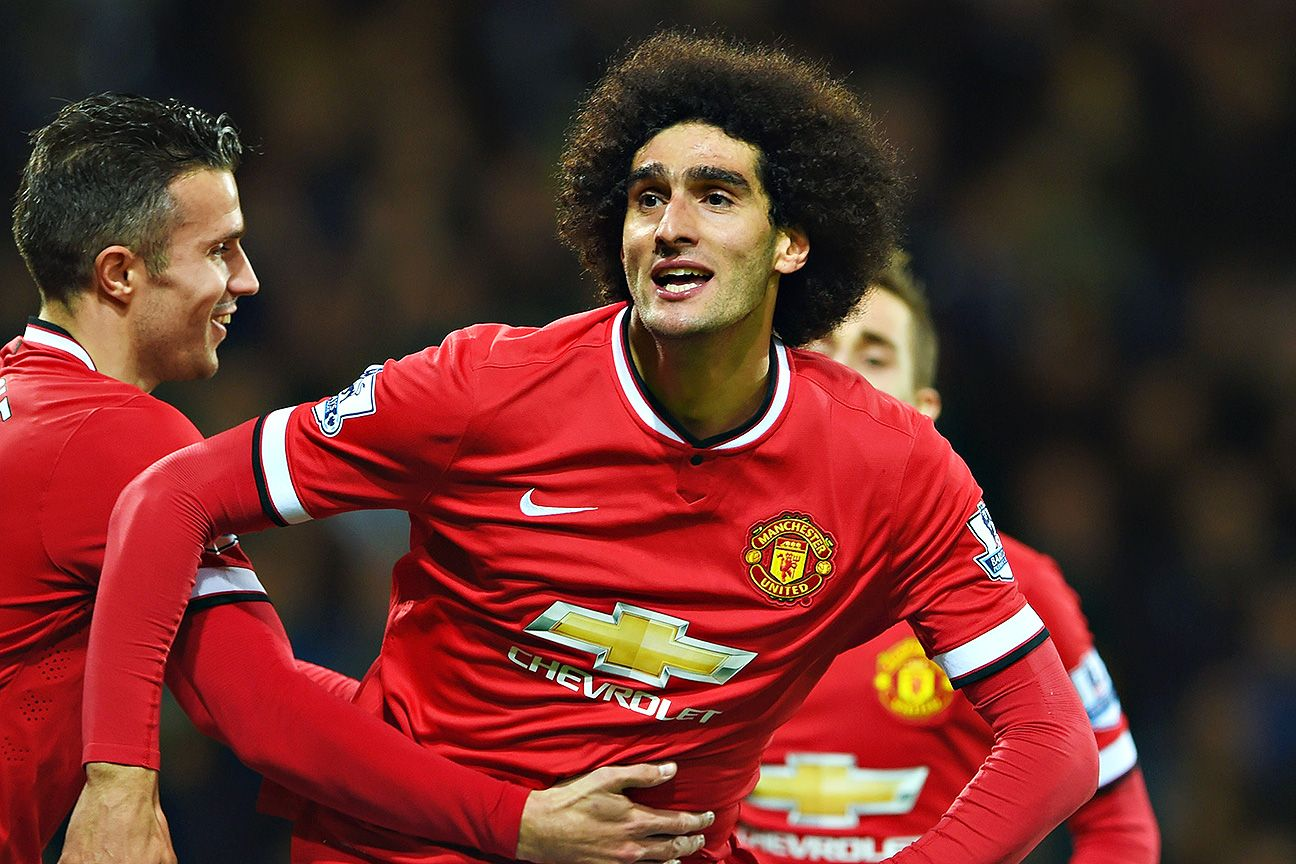 The maligned Marouane Fellaini provided a spark off the bench for United to start the second half.