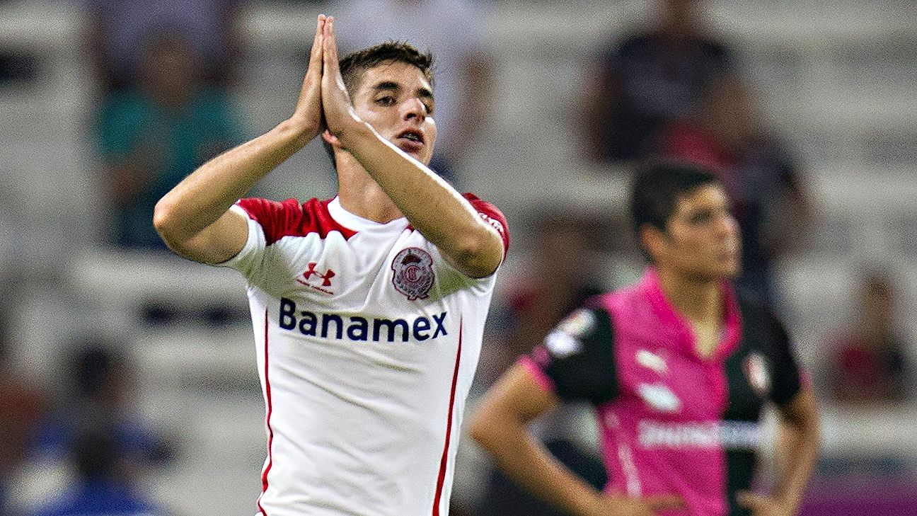 Midfielder Isaac Brizuela looks to have broken his season-long slump with a goal and an assist in Toluca's 2-0 win over Atlas.