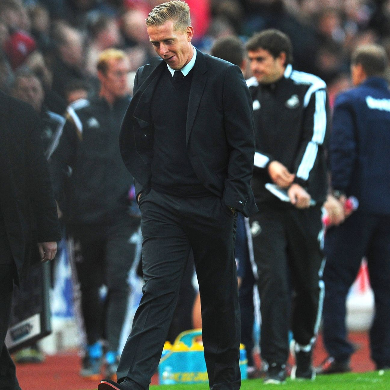 Swansea boss Garry Monk was none too pleased with the officiating in the Swans' 2-1 defeat to Stoke on Sunday.