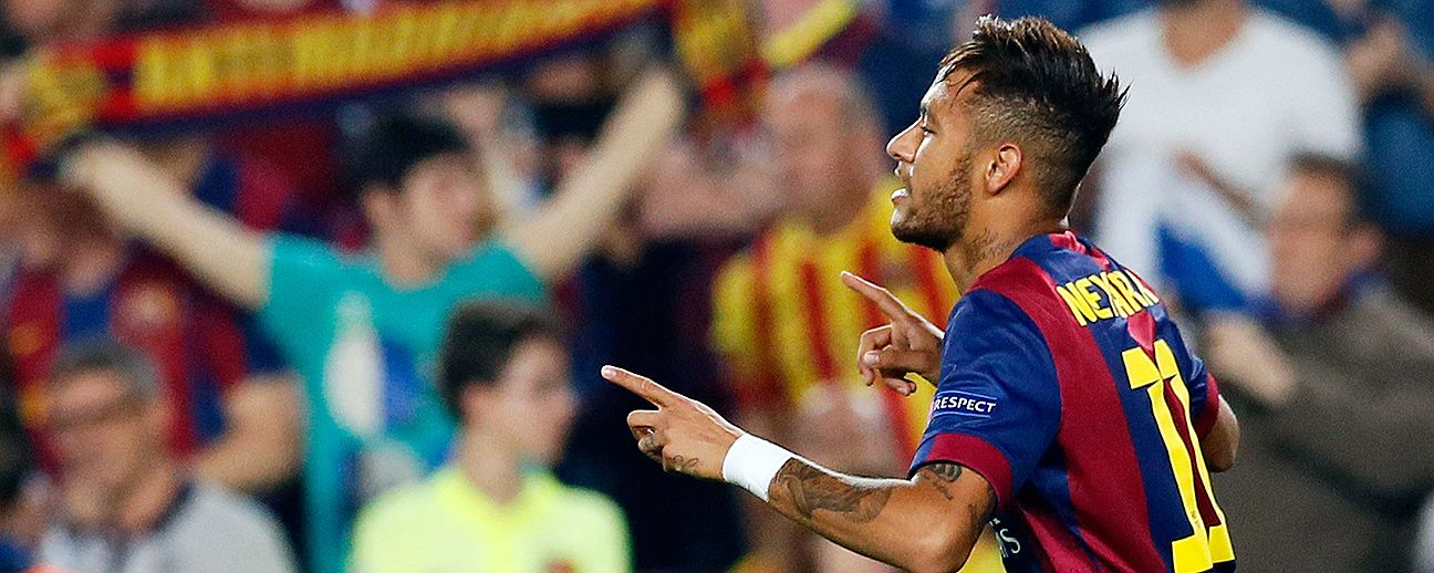 Neymar has already found the back of the net 10 times this season for Barcelona.
