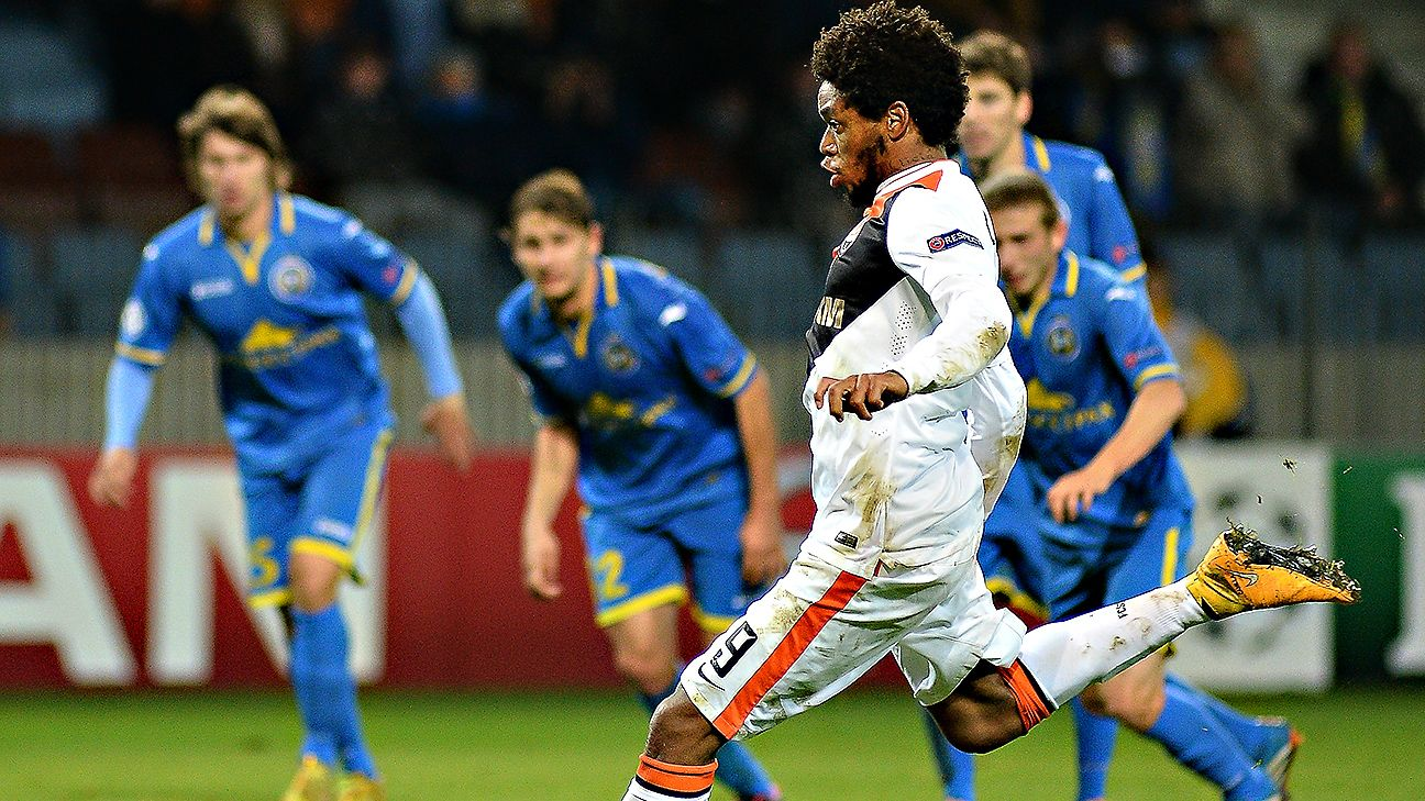 Luiz Adriano parlayed his five-goal Champions League performance into a first ever Brazil call-up.