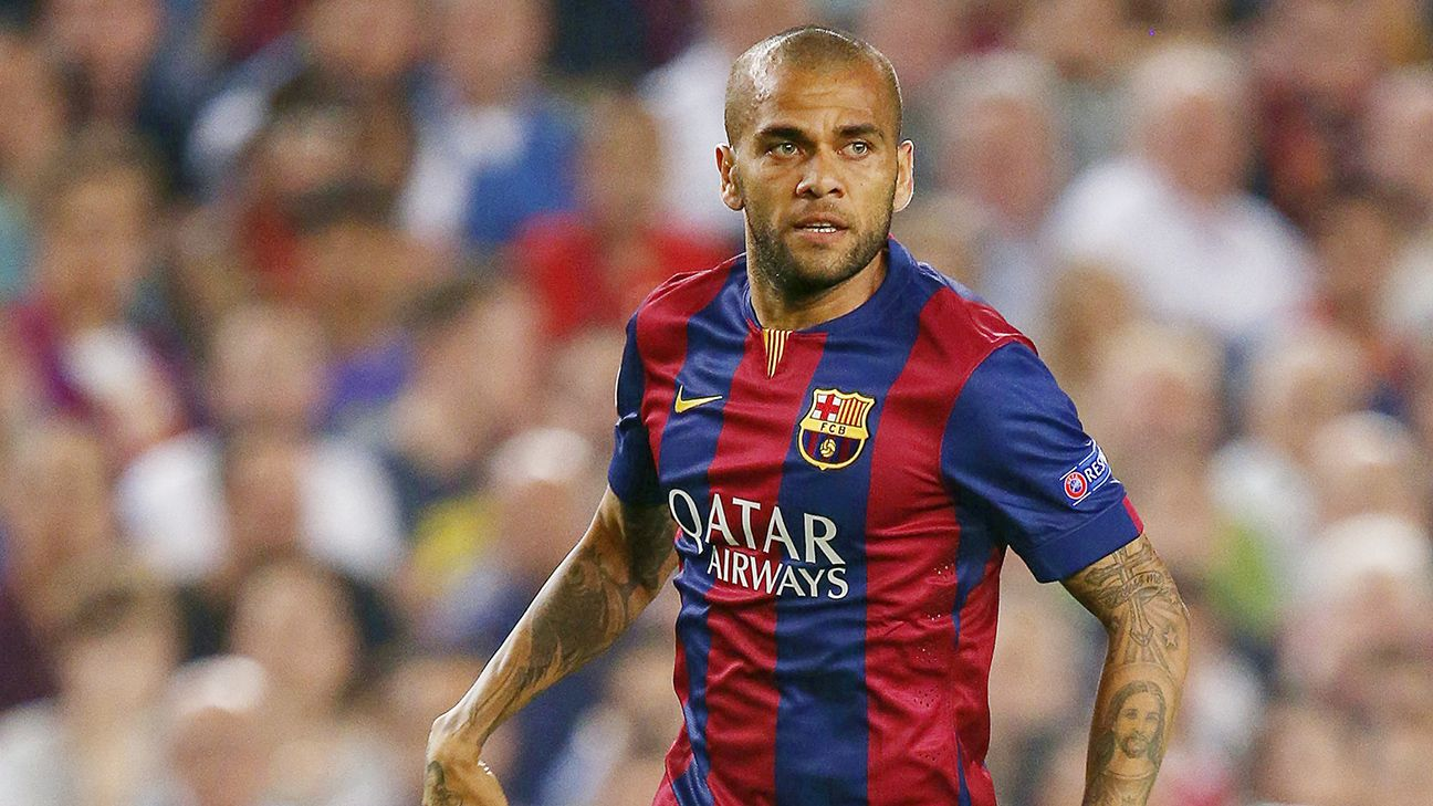 Even though he is expected to depart at season's end, the right back spot at Barcelona still belongs to Dani Alves.