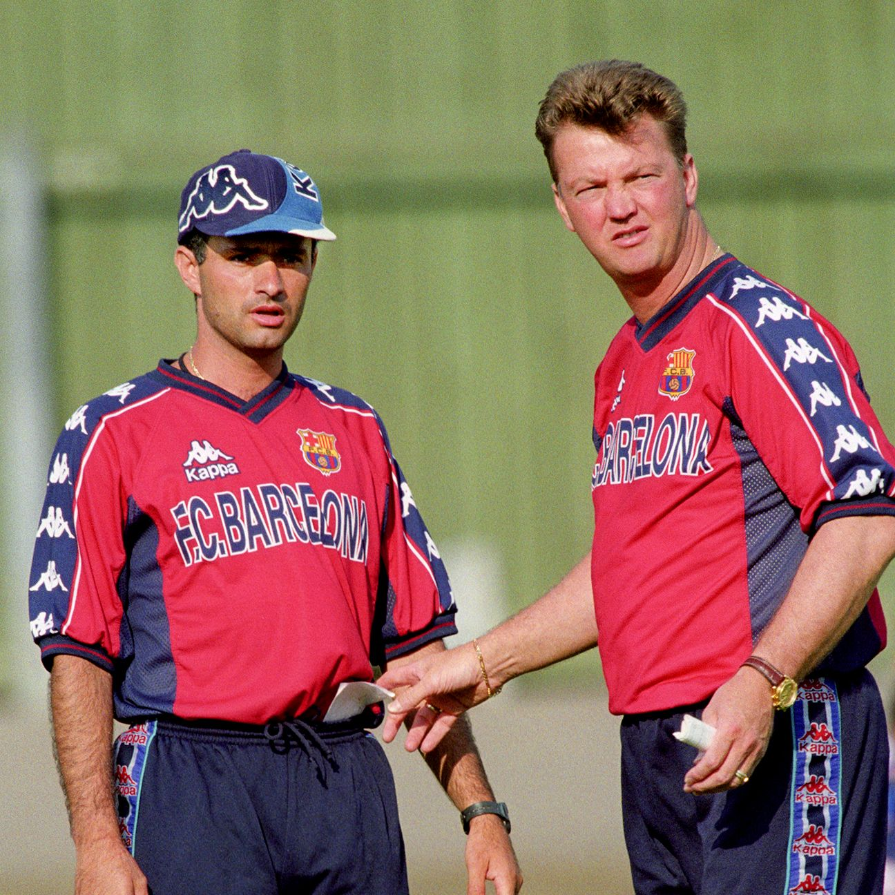 Jose Mourinho served as an assistant to Louis van Gaal on Barcelona's 1997-98 league winning side.