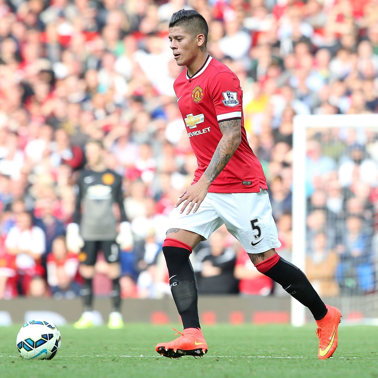 Defender Marcos Rojo will get his first taste of a Manchester United-Chelsea encounter on Sunday.