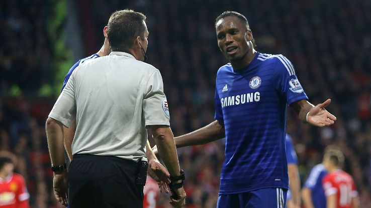 Image result for yellow card on drogba