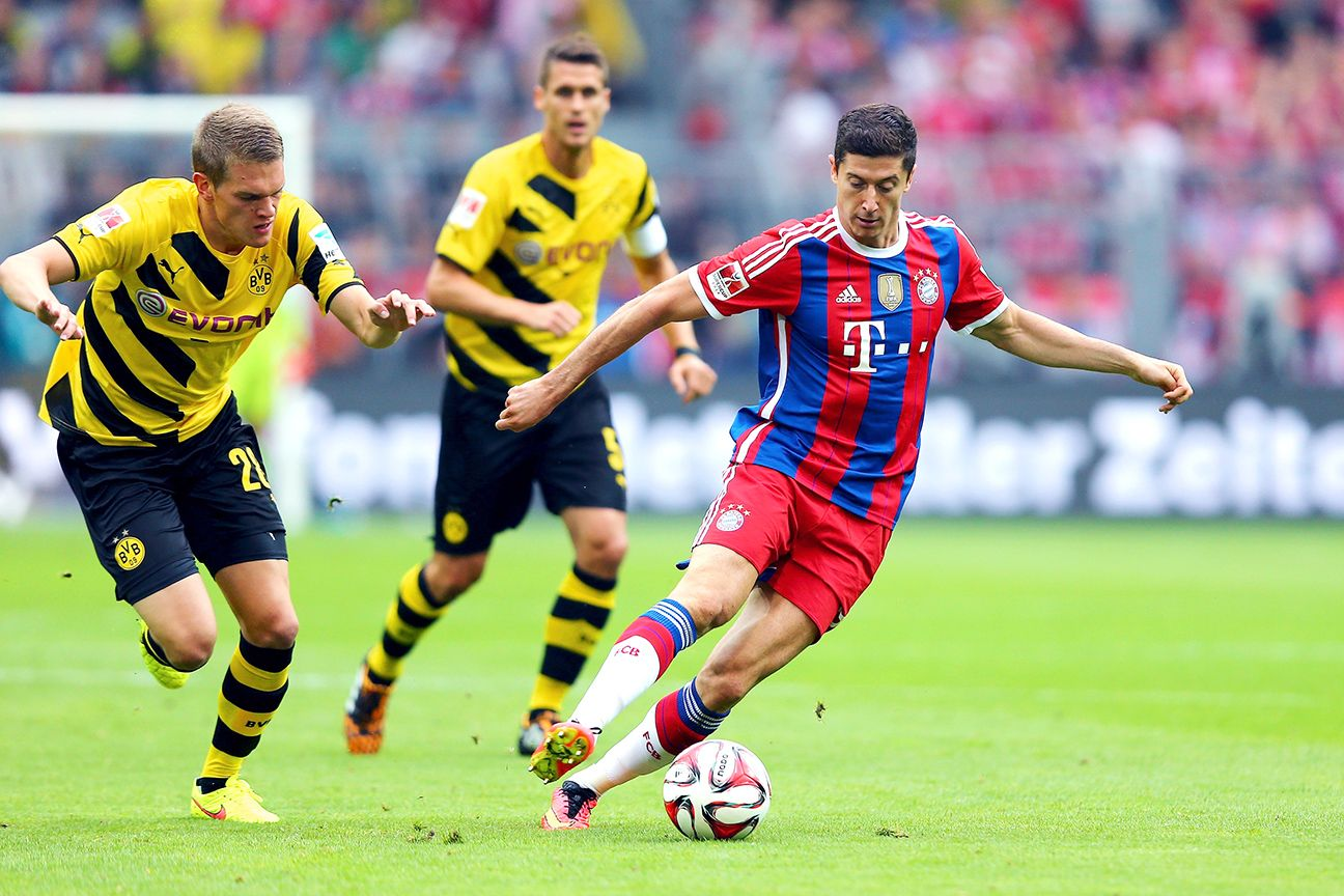 Bayern striker Robert Lewandowski gets his second crack at former club Borussia Dorrtmund this weekend.