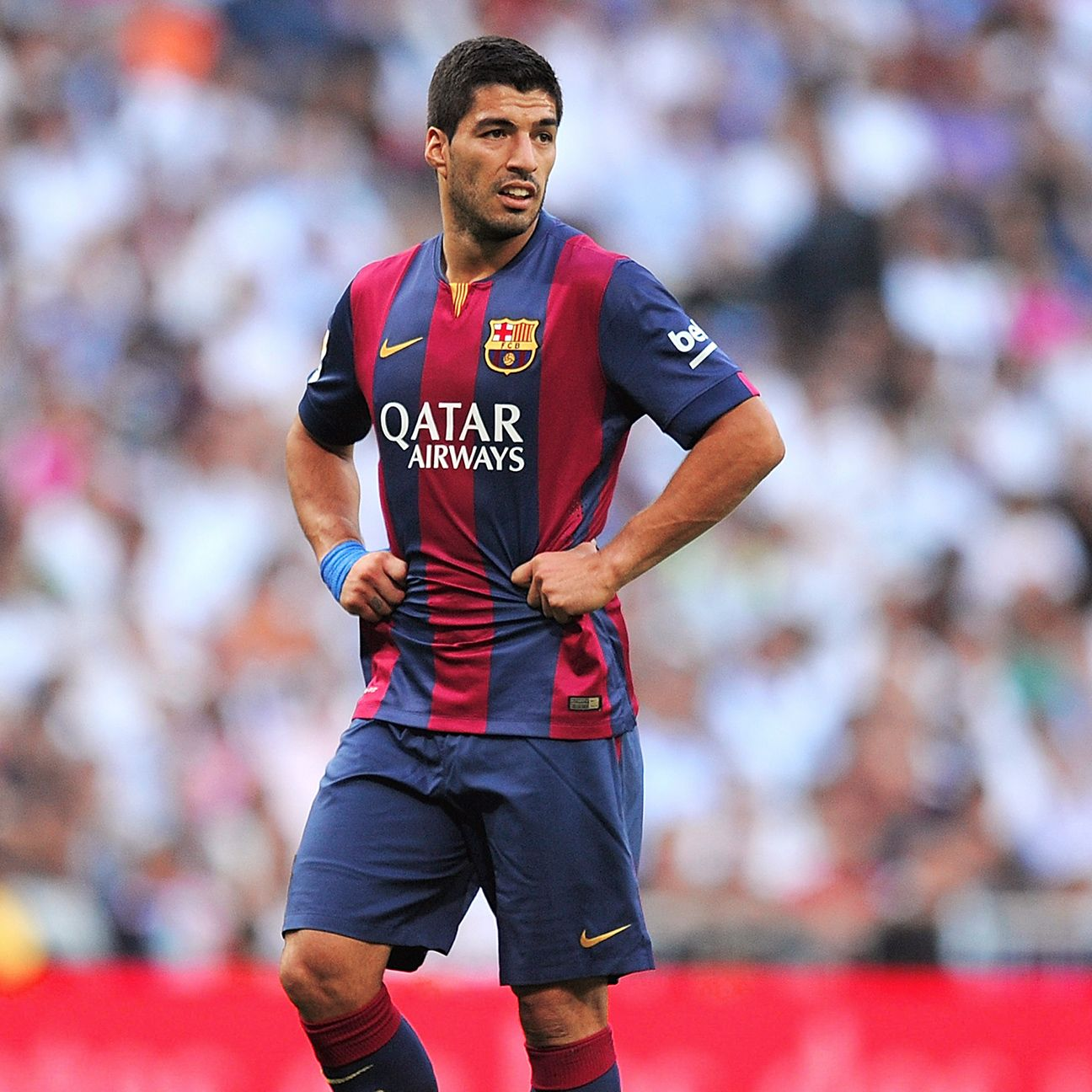 Luis Suarez makes his home debut on Saturday against Celta.