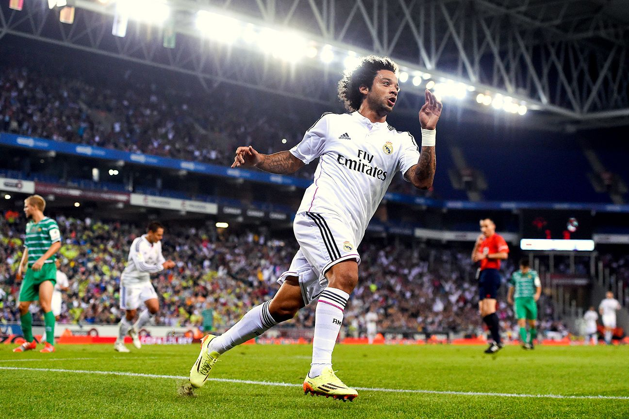 Marcelo followed up his stellar effort in the <i>clasico</i> with a goal in Real Madrid's Copa del Rey win over Cornella.