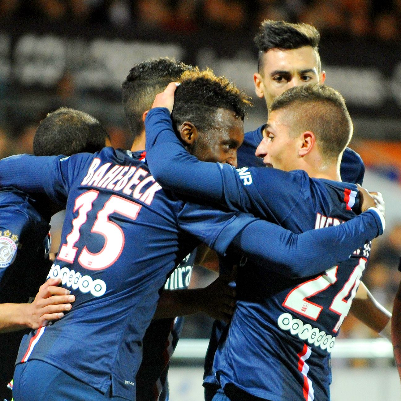 Jean-Christophe Bahebeck's second half heroics paved the way for PSG's comeback win over Lorient.