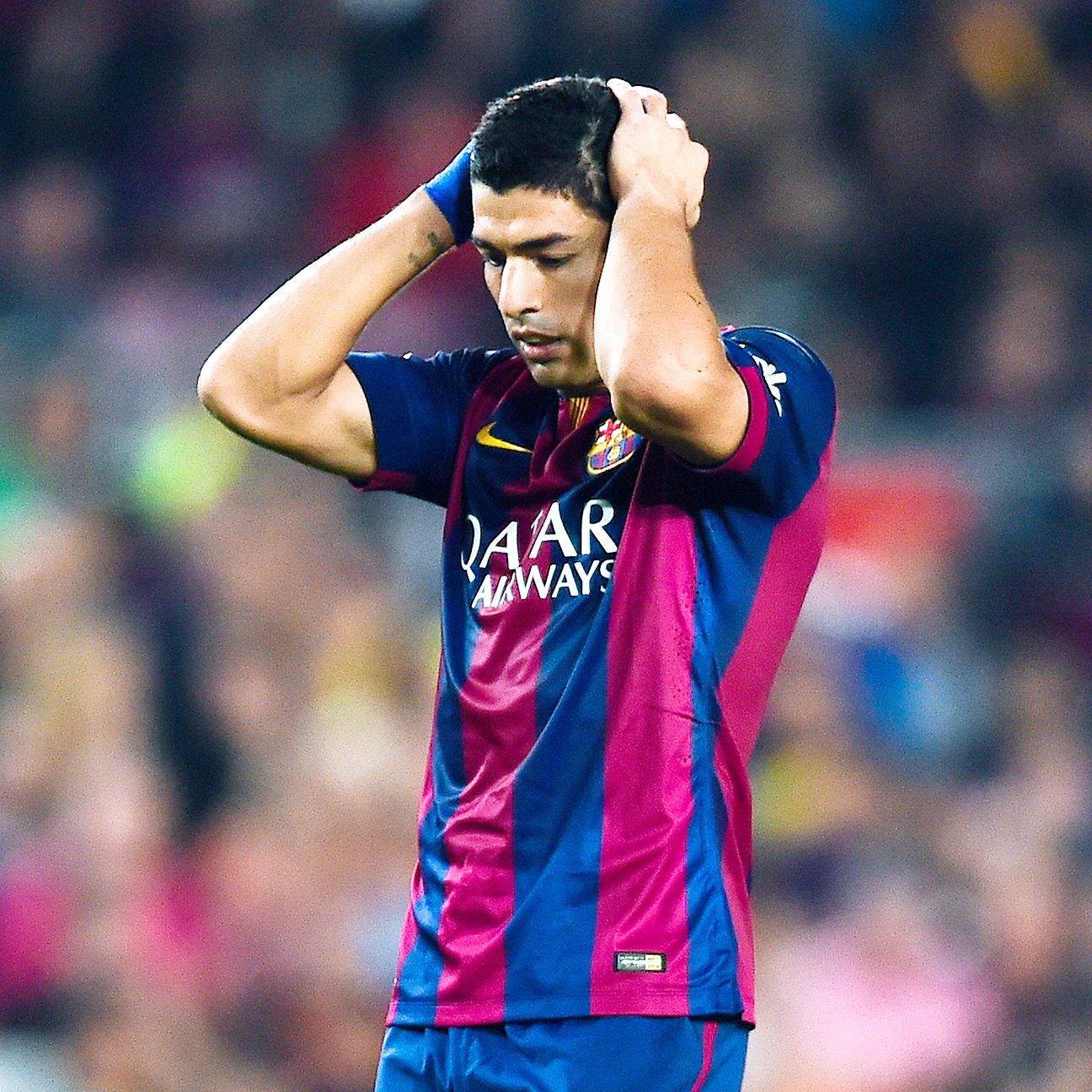 The Barcelona home debut of Luis Suarez did not go as planned.