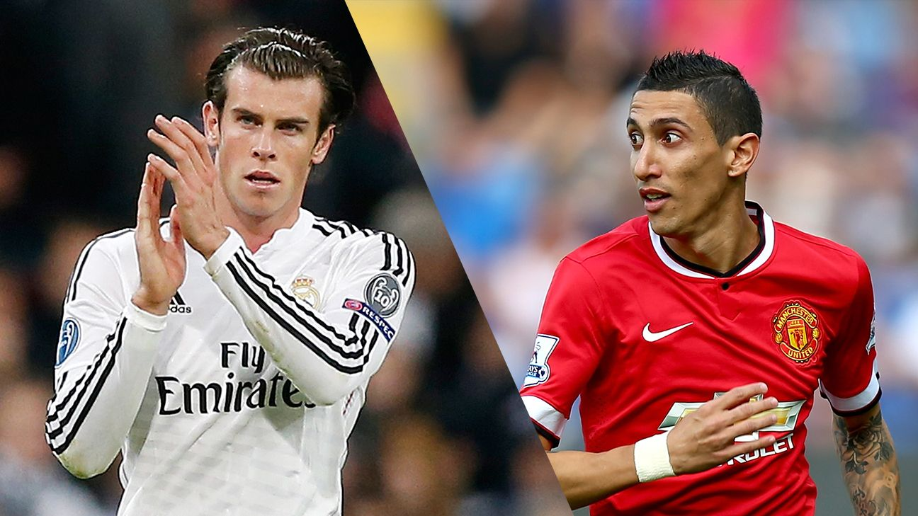 Man United could send Angel Di Maria back to Real Madrid for Gareth Bale