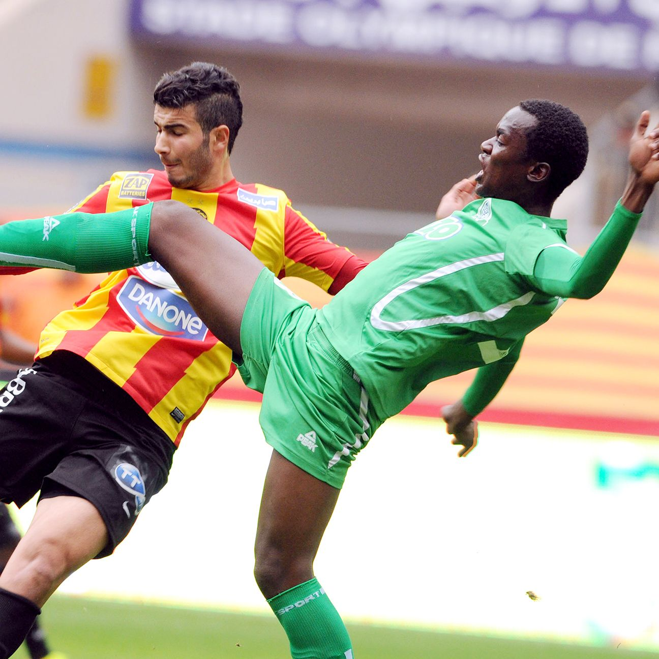Gor Mahia defender Musa Mohamed, right, and his teammates are on the verge of clinching another title in Kenya.