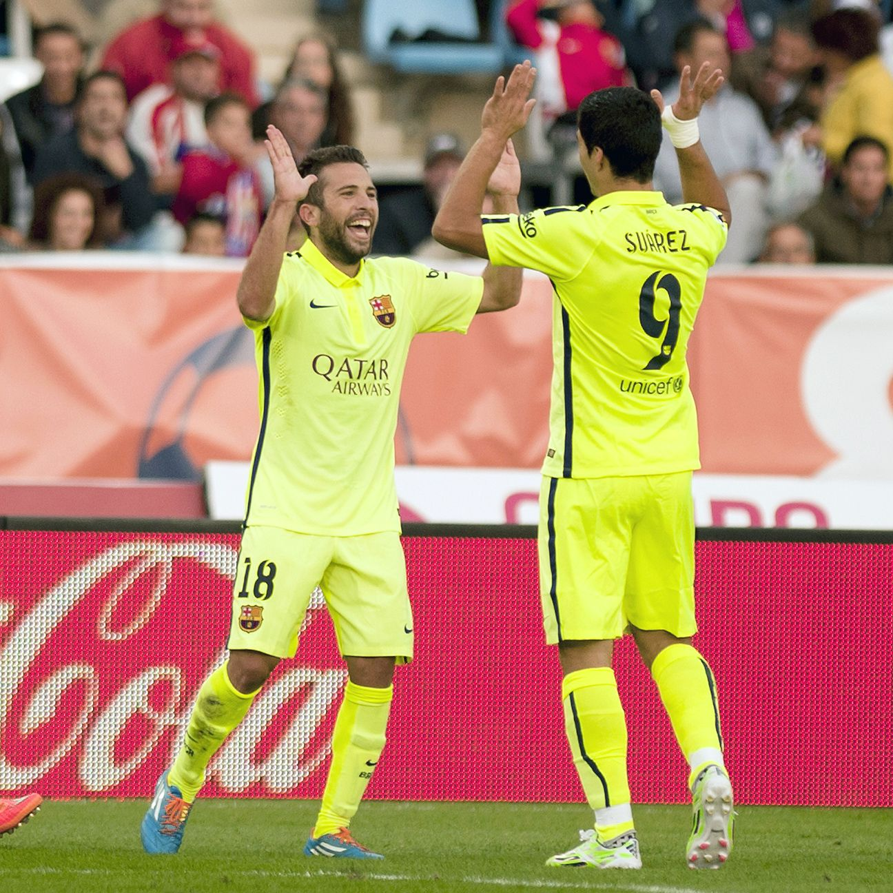Luis Suarez's play off the bench sparked Barcelona to two second-half goals, including Jordi Alba's late winner.