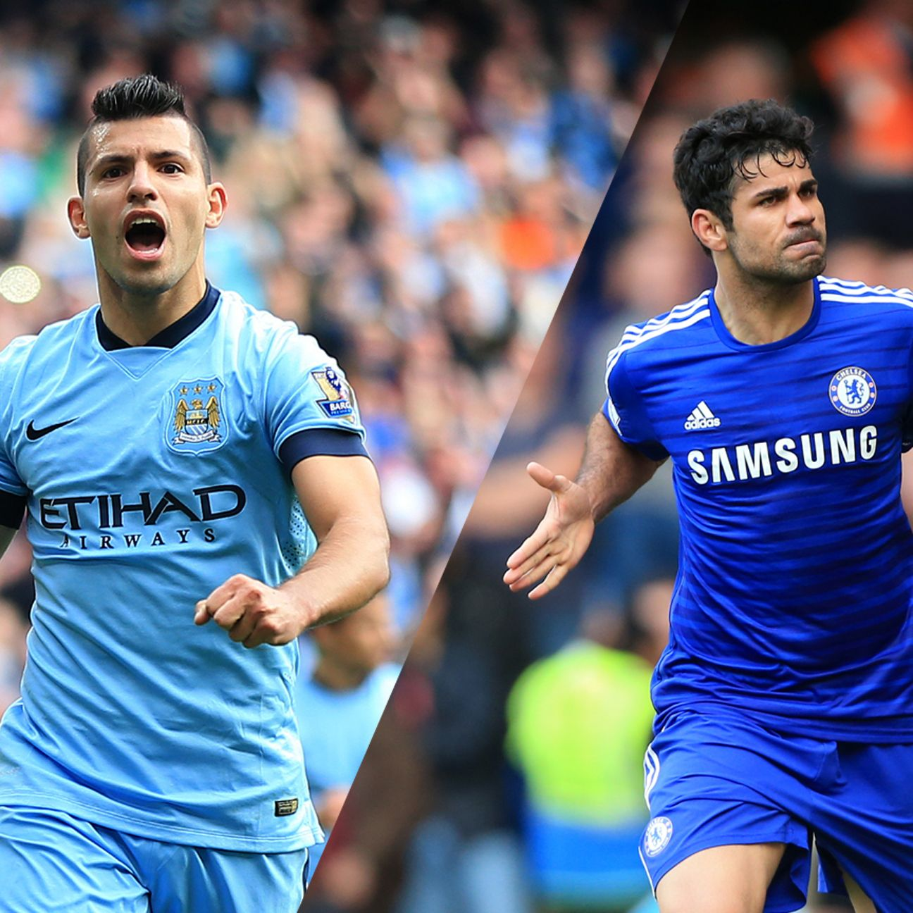 Manchester City's Sergio Aguero (14 goals) and Chelsea's Diego Costa (17 goals) are the top two scorers in the Prem.