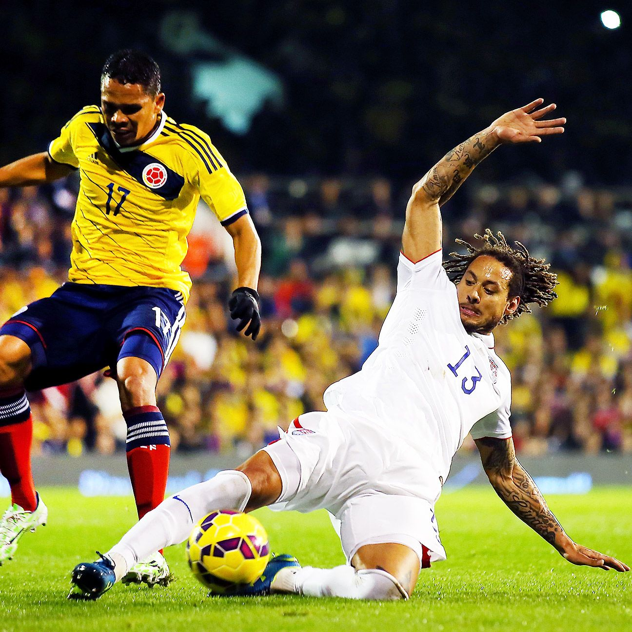 Jermaine Jones put in another solid performance at center back for the U.S.
