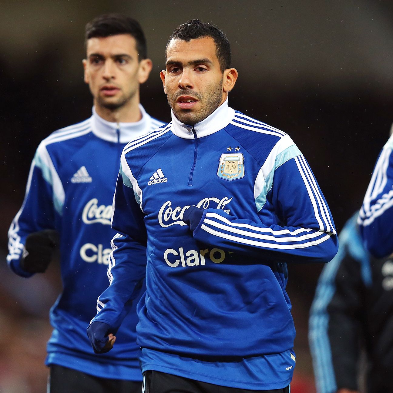 Carlos Tevez had no problems fitting back in with his Argentina teammates.