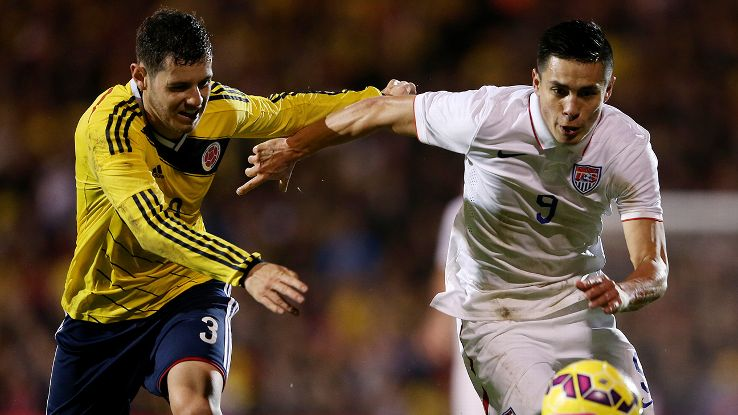 Rubio Rubin showed no signs of being intimidated by the lightning-quick pace of Friday's friendly versus Colombia.