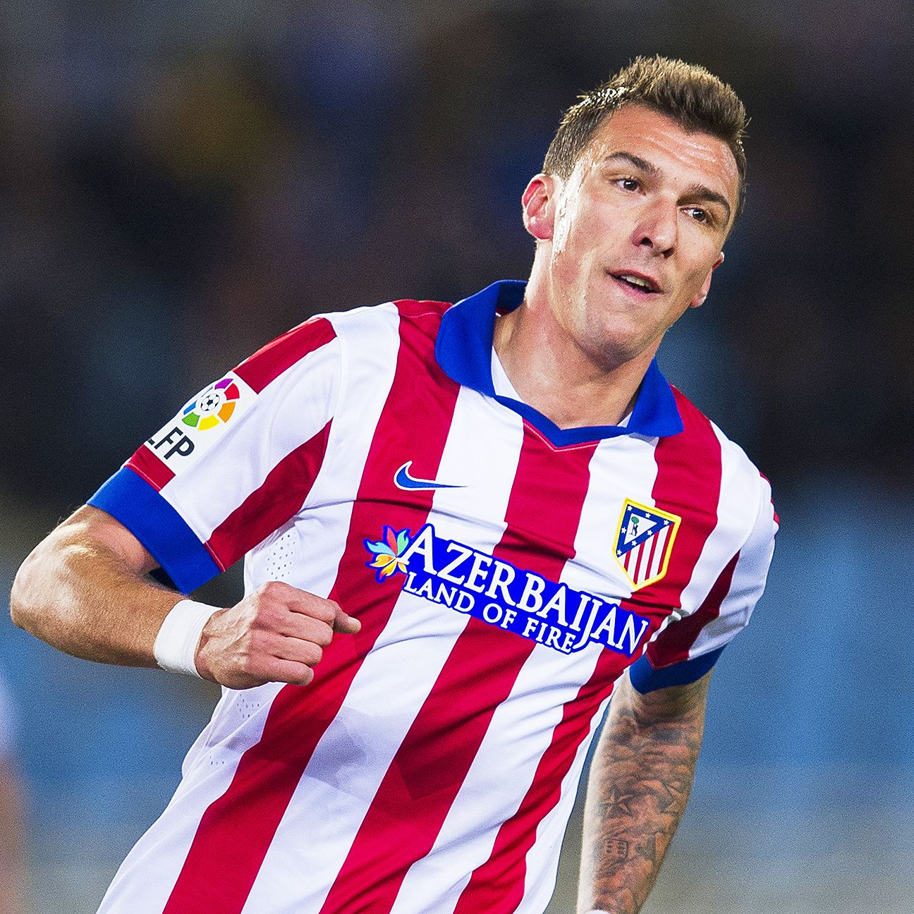 Striker Mario Mandzukic looks to be fitting in nicely at Atletico Madrid.