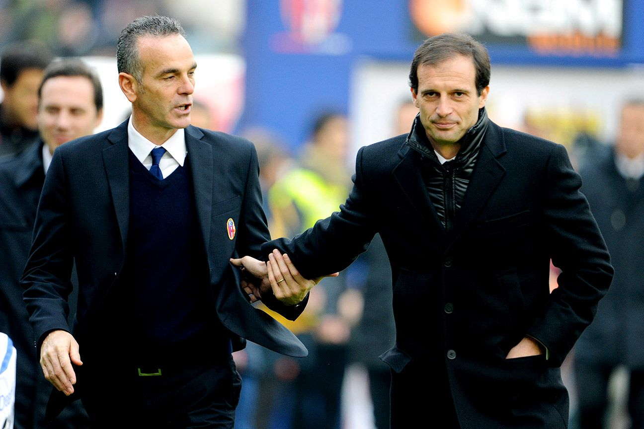 Juve's Massimiliano Allegri, right, will once again match wits against Lazio head coach Stefano Pioli, left.