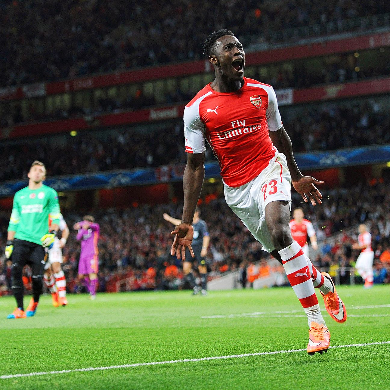 Danny Welbeck could well get the nod over Olivier Giroud to start up front for Arsenal.