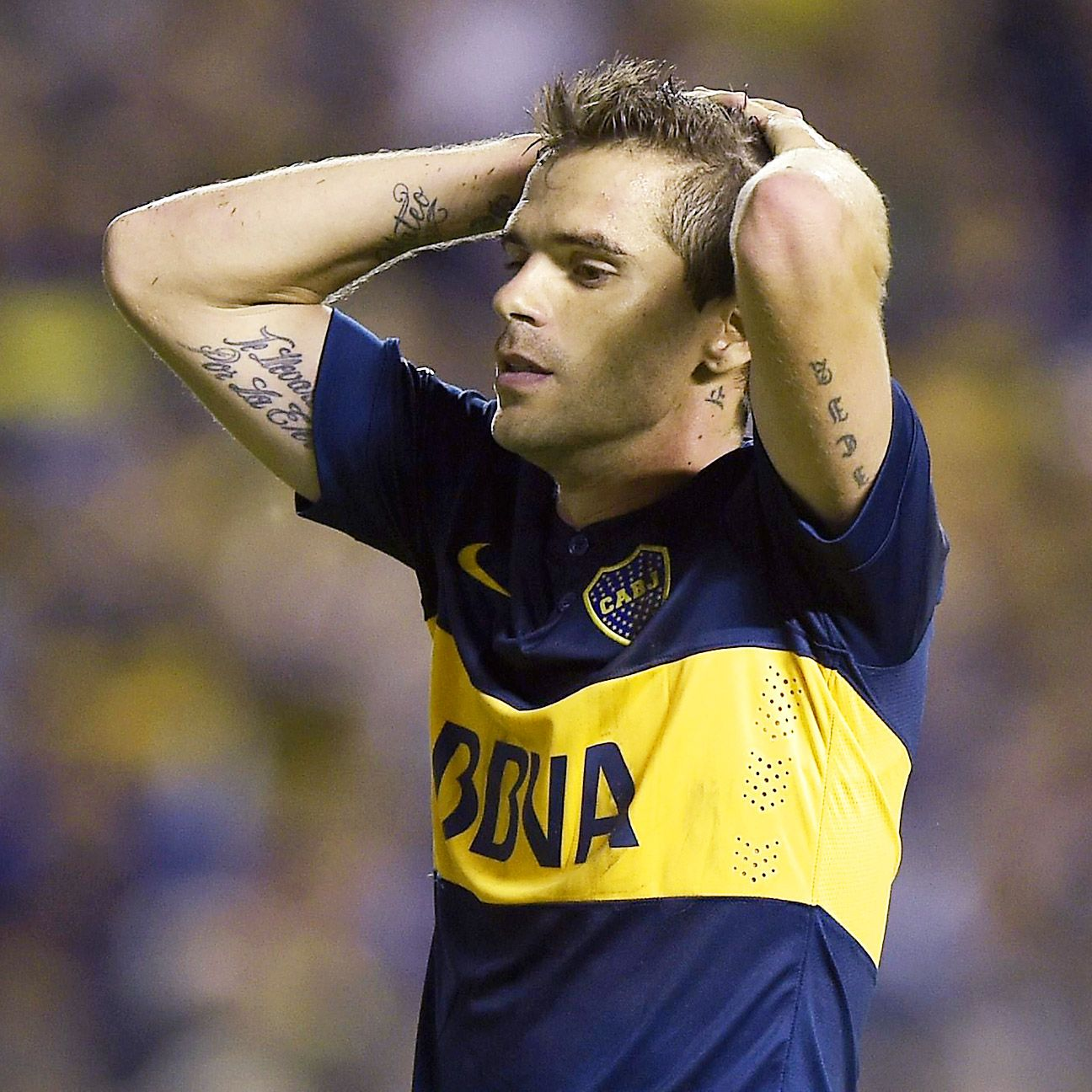 Fernando Gago was left to rue the save made on his stoppage time header that would have won Boca Juniors' first leg Copa Sudamericana semifinal against rivals River Plate.